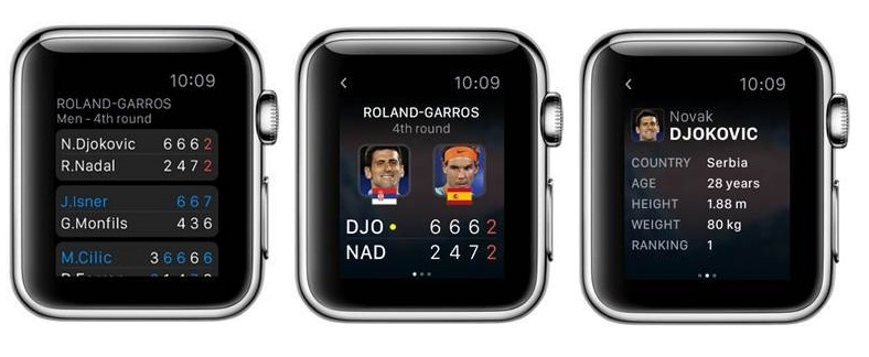 EUROSPORT SUR L'APPLEWATCH